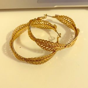 Stylish hoop earrings